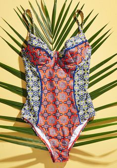 Seaway of Life One-Piece Swimsuit. Flaunt your devotion to the ocean when you don this vibrant swimwear! #multi #modcloth