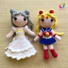 Handmade Sailor Moon Amigurumi dolls by uDezignCrafts on Etsy