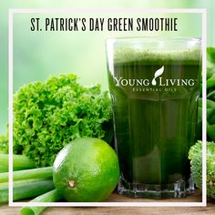 Happy Saint Patrick's Day! St. Patrick's Day Green Smoothie Recipe! Ingredients • 2 cups coconut milk • 2 cups fresh spinach, tightly packed • 2 bananas • 1 cup sliced peaches • ½ avocado • 2 drops Peppermint essential oil Directions Combine all ingredients together in blender and blend until smooth. Use frozen fruit for a colder smoothie. #IntheKitchenwithYL