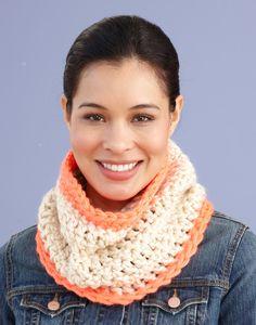 Neon Stripe Cowl (Crochet)
