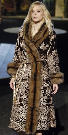Absolutely scrumptious.  I'd live in an ice palace in order to wear it every day.  / Roberto Cavalli