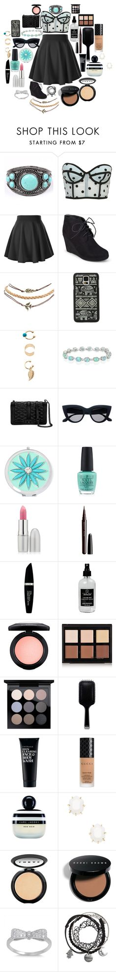 """""""MAKIN MY WAY DOWNTOWN"""" by bones-2-dust ❤ liked on Polyvore featuring Journee Collection, Wet Seal, Samsung, Monsoon, Belk & Co., Rebecca Minkoff, Liz Claiborne, OPI, TheBalm and Marc Jacobs"""