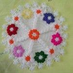 Papatya Lif #washcloth #örgü #lif #knit #knitting #crochet