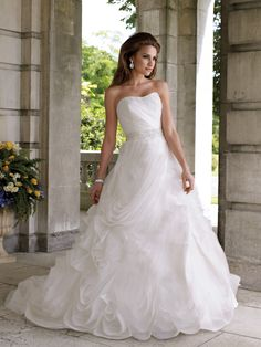 LOVE IT!    Wedding dresses and bridals gowns by David Tutera for Mon Cheri for every bride at an affordable price  |  Wedding Dresses  |  style #112206 - Fountanna