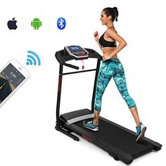 ANCHEER Treadmill, Folding Electric Treadmills, Motorized Running Treadmills with Rolling Wheels (Dark_red) Cardio Workout At Home, At Home Workouts, Inversion Table, Electric Treadmill, Folding Treadmill, Good Treadmills, Running Machines, Gym Essentials, App Control