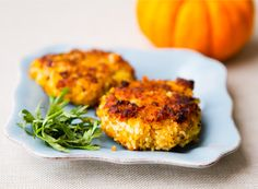 vegan-chickpea-pumpkin-fritters sub pine nuts for hemp seeds, yum! also add sprinkle of cumin, ginger and a little cinnamon for pumpkin flavour. Maybe for a treat some feta cheese chunks too