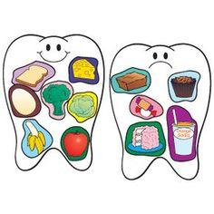 Coqueto cartel para el cuidado de los dientes Reinforce healthy dental habits with this idea.