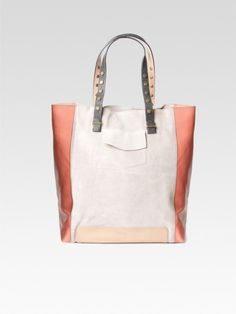 Hoss Intropia Suede and leather tote bag
