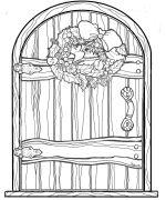 fairy door | Christmas Fairy Door Coloring Page