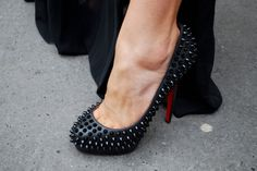 Christian Louboutin spiked pumps.