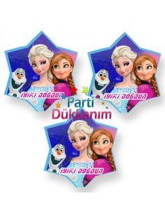Frozen Dekoratif Süs 3 Adet (11x11 cm)