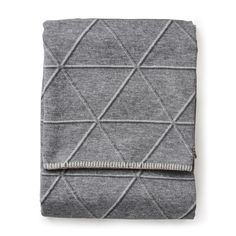Diamond Sylt Throw Grey - Throws and Blankets - Soft Furnishings - Home this looks so comfy. I can just imagine cuddling up with this blanket xx Sofa Bed Throws, Sofa Throw, Small Throws, Triangular Pattern, Cotton Throws, Swedish Design, Grand Designs, Chalets