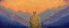 Buddha Print featuring the painting Sunrise by Vrindavan Das