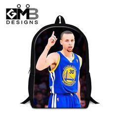 Stephen Curry School Backpacks for Teen Boys,Cool Shoulder bookbags,Polyester Mochilas for Teenager Children's Back pack bagpack