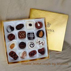 Needle felted truffles with original Godiva by FunFeltByWinnie, $100.00