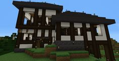 A house I made in MineCraft, in a medieval style. I purposely did not use any high-level planning, to create a more organic layout. 2012? 2013? I don't remember. #minecraft