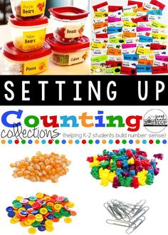 4 steps to setting up Counting Collections in your classroom to help you stay organized!