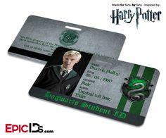 Harry Potter Inspired Hogwarts Student ID (Slytherin) - Draco Malfoy - Epic IDs Slytherin Harry Potter, Theme Harry Potter, Harry Potter Room, Harry Potter Birthday, Harry Potter Cast, Harry Potter Characters, Ravenclaw, Slytherin Pride, Slytherin House