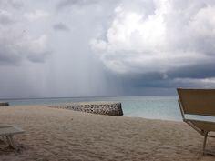 Rain over Maldives