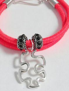 Autism bracelet autism awareness jewelry puzzle por GenevasSky
