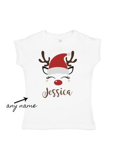 girls santa hat reindeer t-shirt - baby girl christmas outfits Toddler Halloween Outfits, Baby Girl Halloween Outfit, Girls Christmas Outfits, Baby Girl Christmas, Halloween Costumes For Girls, Christmas Shirts, Ghost Costume Kids, Mouse Outfit, Long Sleeve And Shorts