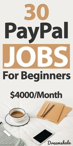30 PayPal Jobs for Beginners- $4000 per month. #paypal #paypaljobs #onlinejobs #sidejobs #onlinejobsthatpaythroughpaypal #sidehustles #getpaidviapaypal #jobsthatpayviapaypal Ways To Earn Money, Earn Money From Home, Money Tips, Make Money Online, How To Make Money, Money Hacks, Work From Home Tips, Online Jobs, Making Ideas