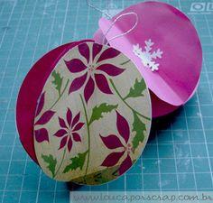 Louca por Scrap: Bolas de Natal com papel de scrapbook