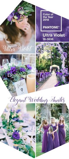 Fresh ultra violet purple and greene spring wedding color inspiration
