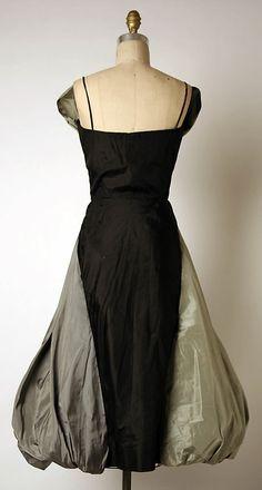 Evening dress Madame Grès (Alix Barton)  (French, Paris 1903–1993 Var region)  Date: 1954 Culture: French Medium: silk. Back