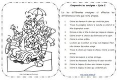 Lire et comprendre les consignes Cycle 2 Comprehension Activities, Reading Activities, Reading Comprehension, Education And Literacy, French Education, French Teacher, Teaching French, French Practice, Back Up