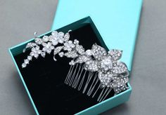 Bridal Hair Comb Wedding Hair Comb Floral by BlingGarden on Etsy