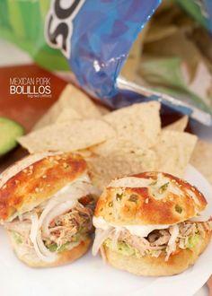 mexican pork bolillo sandwiches on a jalapeno pretzel bun. so worth it. #fleischmanns #pretzelcreations