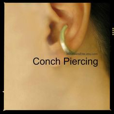 16 gauge ear post earring for men. This single conch earring is made from sterling silver with a ear post. Conch Piercings, Unique Ear Piercings, Fake Piercing, Conch Earring, Cartilage Earrings, Simple Earrings, How To Make Earrings, Hairstyle Curly, Kylie Jenner Ear Piercings
