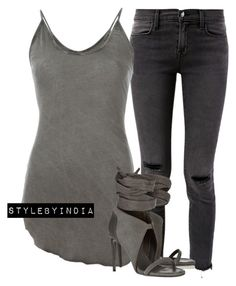 """""""Untitled #1431"""" by iysmnx ❤ liked on Polyvore featuring J Brand, Lost & Found and Rick Owens"""