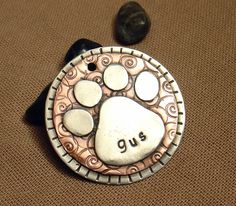 Custom pet ID tag personalized mixed metal tag for by DoggoneTags, $28.00