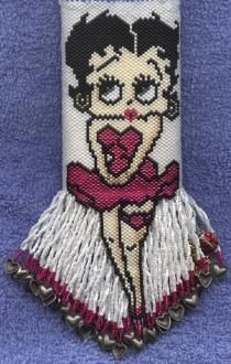 Boopsie - beaded amulet pattern by Pat Morgan.  See Betty Hauser's website
