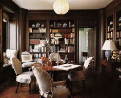 victorian library | Lil'Pix #96: Paneled Library