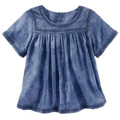 Kid Girl Embroidered Indigo Top from OshKosh B'gosh. Shop clothing & accessories from a trusted name in kids, toddlers, and baby clothes.