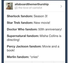 I am actually in all these fandoms (except percy jackson, sorry katie)so it is bitter sweet, i guess