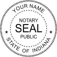 Indiana Notary address stamp