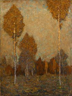 Walter Ophey (All., 1882-1930), Märchenwald, 1906, huile sur toile,49,1 x 36,8cm, Cologne,Kunsthaus Lempertz