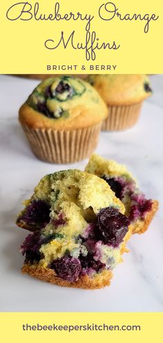 Blueberry Orange Muffins are bright and fruity! Citrusy soft muffins with blueberries that explode with berry flavor in your mouth! An easy breakfast recipe that are sure to disappear quickly!