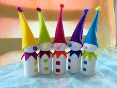 Wee Peg-Doll Gallery...could make snow men, maybe a Family of fairies for Emma