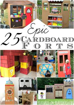 25 epic cardboard forts so amazing your kids won't want to leave them...but don't worry, they'll always promise to be home for dinner.