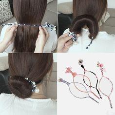 DIY EZ Hair Bun Maker Hair Pinterest Hair Bun Maker Bun - Diy bun warmer