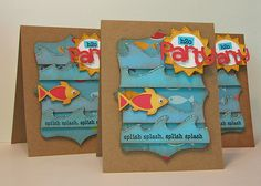 pool party invites and other decor.