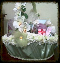 Bridesmaid gift basket from the bride by Sumaya Creations