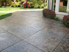the jobsite supply stamped concrete program - texture mats, stamp ... - Concrete Patio Ideas Backyard