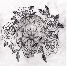 sugar skull tattoo art - Google Search