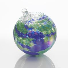 Ornament of the Year...Joy to the World by Tom Stoenner: Art Glass Ornament available at www.artfulhome.com